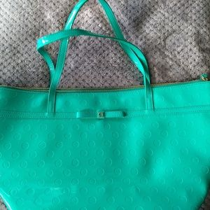 Kate Spade Patient Leather Green Tote